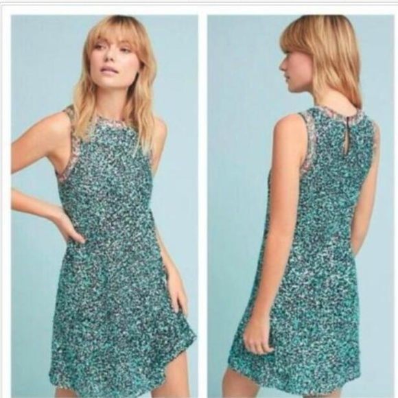 b71d1fbacc99 Anthropologie Dresses | Astronomy Sequin Swing Dress By Varun Bahl ...